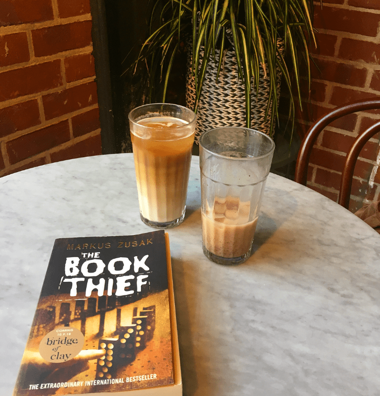 the book thief cafe coffee reading
